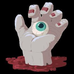 Ilustração de sangue de olho de mão