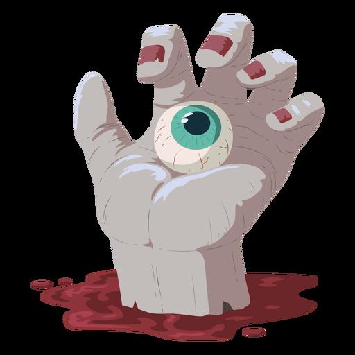 Ilustração de sangue de olho de mão Transparent PNG