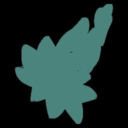 Silueta detallada de flor de mano
