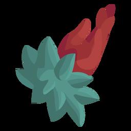 Flor de mano plana