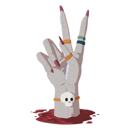 Hand gesture blood illustration