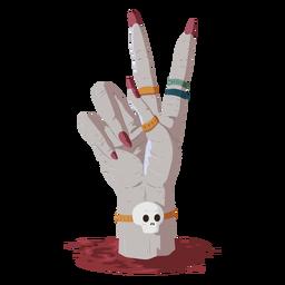 Ilustración de sangre de gesto de mano