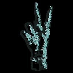 Handzeichen Zeilendarstellung