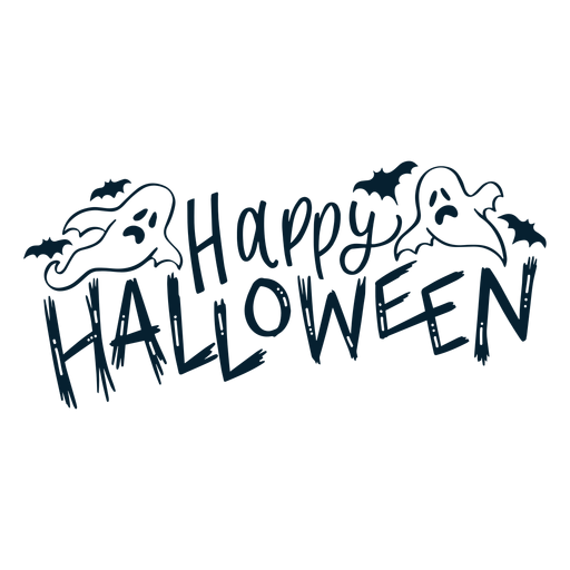 Happy halloween badge sticker Transparent PNG