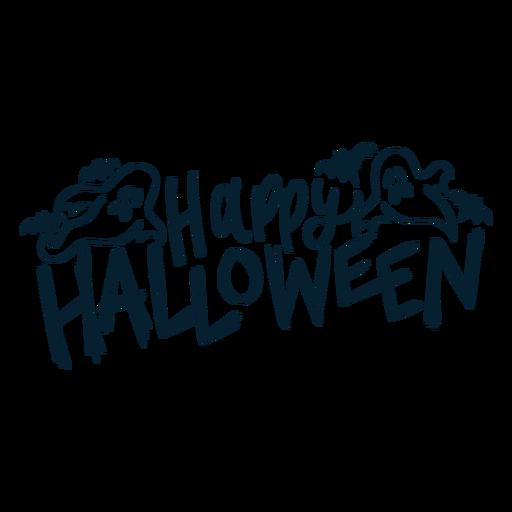 Happy halloween badge sticker