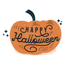 Happy halloween pumpkin sticker badge