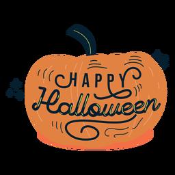 Insignia de etiqueta de calabaza de feliz halloween