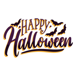 Happy halloween sticker badge