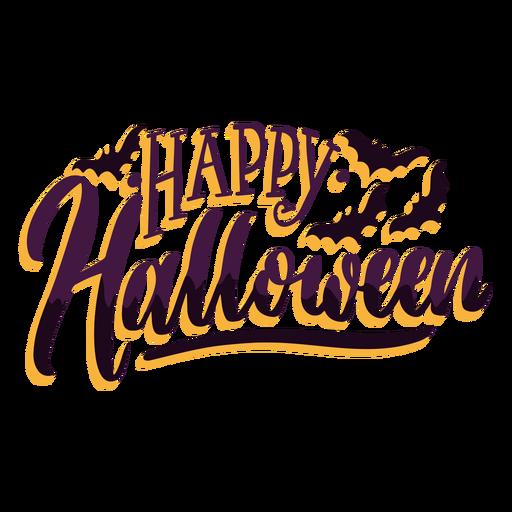 Insignia de etiqueta engomada feliz halloween