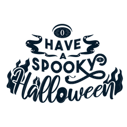 Have a spooky halloween sticker badge