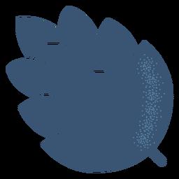 Silhueta detalhada do cone de lúpulo