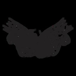 Ilustración de mano de cono de salto