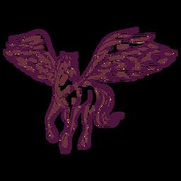 Ilustración de caballo pegaso