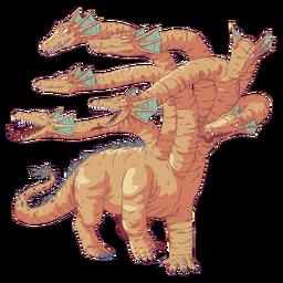 Hydra réptil colorido ilustração colorida