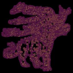 Ilustração de réptil Hydra