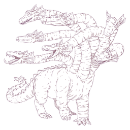 Ilustración de reptil de hidra