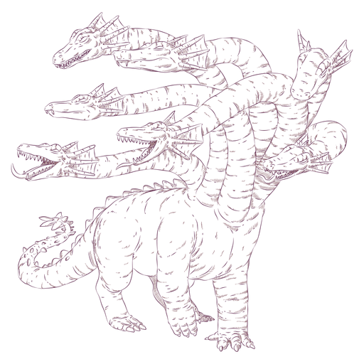 Ilustração de réptil Hydra Transparent PNG