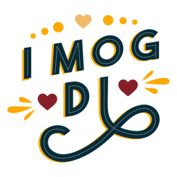 Pegatina di mog di badge