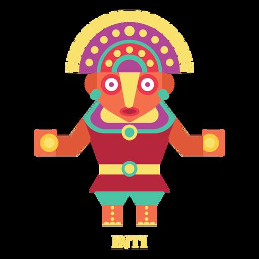 Inti inca divinity flat Transparent PNG