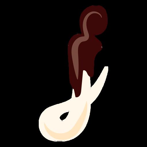 J j letter chocolate flat Transparent PNG