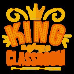 Etiqueta engomada de la insignia de la corona del rey de mi aula