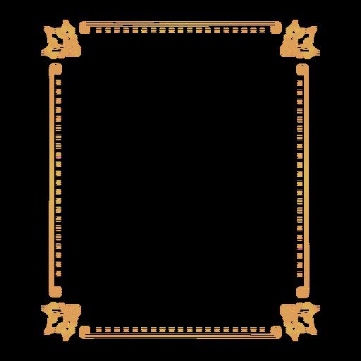 Insignia de etiqueta de marco de hoja Transparent PNG