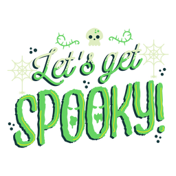Let's get spooky sticker badge