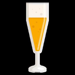 Cerveza de vidrio de espuma ligera plana