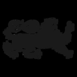 Silhueta de cauda de leão