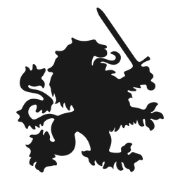 Lion tail sword silhouette