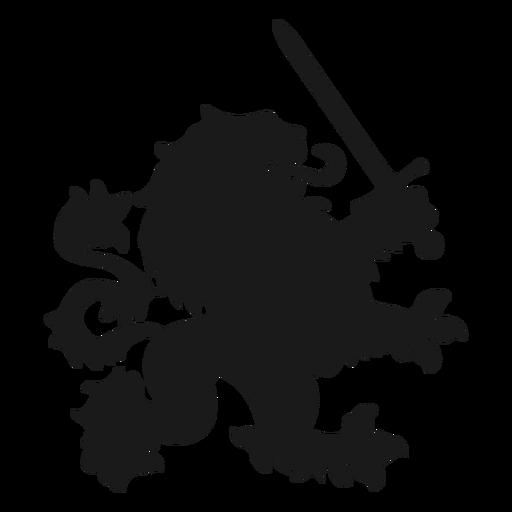 Silueta de espada de cola de león Transparent PNG