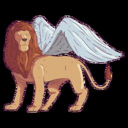 Ilustración coloreada del ala del león