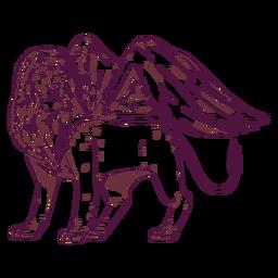 Ilustración de ala de león