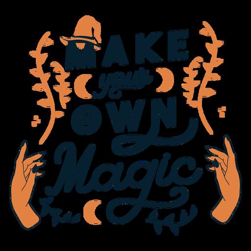 Haz tu propia insignia adhesiva mágica Transparent PNG