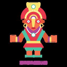 Mama ocllo inca divinidad plana