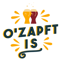 O'zapft is badge sticker