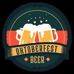 Autocolante de distintivo de fita de vidro de copo de cerveja Oktoberfest