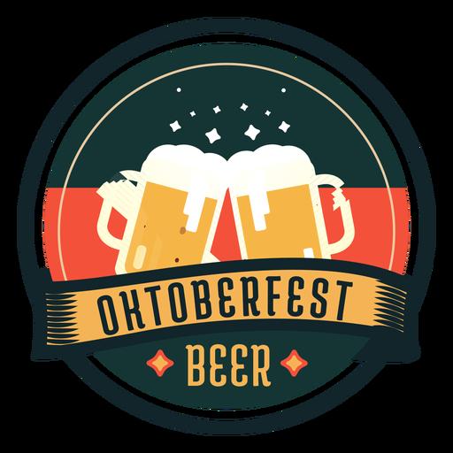 Oktoberfest beer cup glass ribbon badge sticker