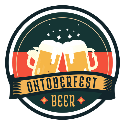 Oktoberfest cerveza taza vidrio cinta insignia etiqueta Transparent PNG
