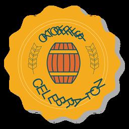 Oktoberfest celebration barrel badge sticker