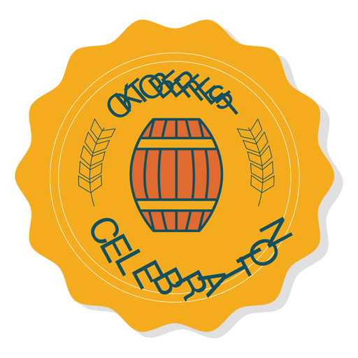 Oktoberfest celebration barrel badge sticker Transparent PNG
