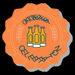 Autocolante de emblema de garrafa de celebração da Oktoberfest