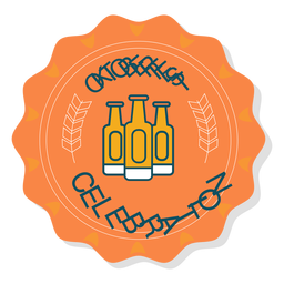 Etiqueta engomada de la botella de celebración Oktoberfest
