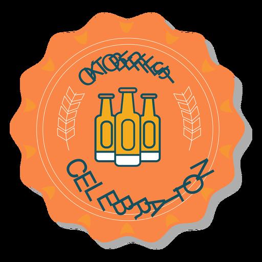 Oktoberfest celebration bottle badge sticker Transparent PNG