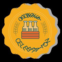Autocolante de emblema de caixa de celebração de Oktoberfest