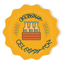 Oktoberfest celebration box badge sticker