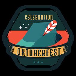 Oktoberfest celebração boné chapéu fita distintivo adesivo