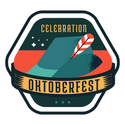 Oktoberfest celebration cap hat ribbon badge sticker