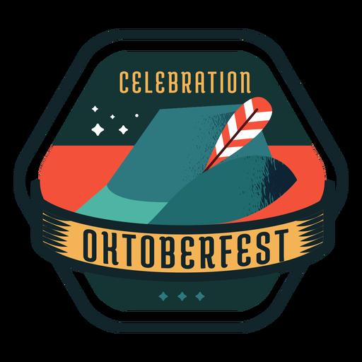 Oktoberfest celebration cap hat ribbon badge sticker