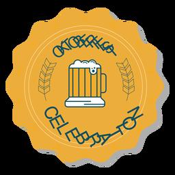Etiqueta engomada de la taza de celebración de Oktoberfest